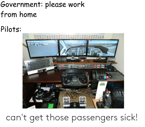Passengers: can't get those passengers sick!