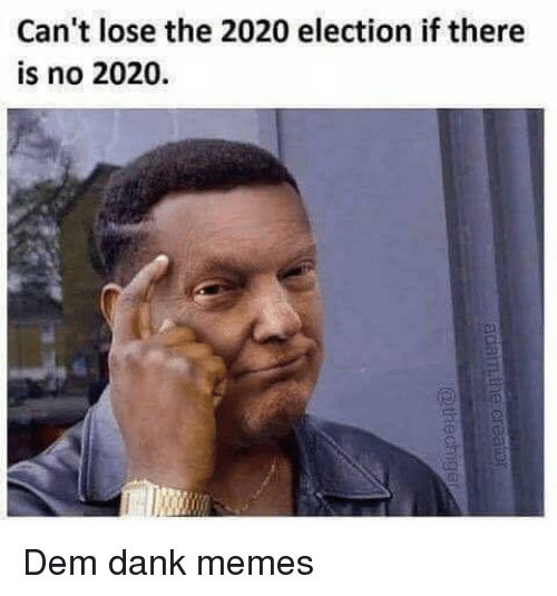 Fall Memes 2020.Can T Lose The 2020 Election If There Is No 2020 D D Dem
