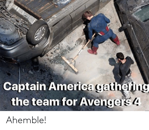 America, Team, and Rs4: Captain America gathef  the team for Avenge  rs4 Ahemble!