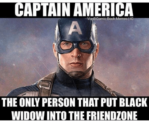 Captain America The Only Person That Put Black Widow Into