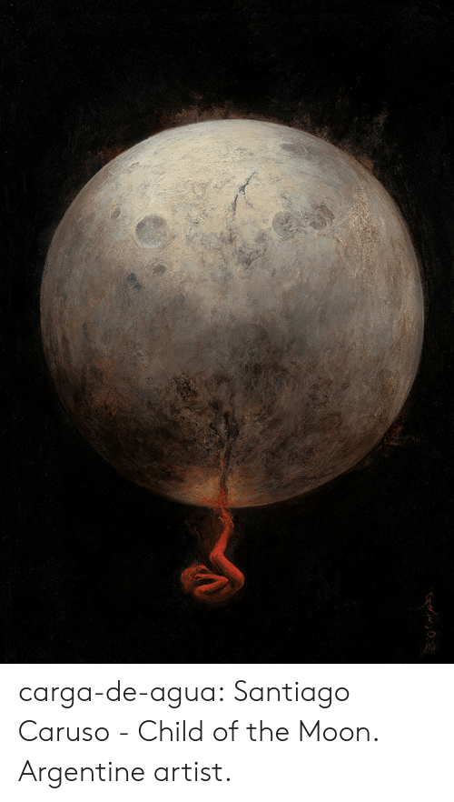 Tumblr, Blog, and Moon: carga-de-agua:    Santiago Caruso - Child of the Moon. Argentine artist.