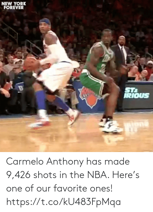 shots: Carmelo Anthony has made 9,426 shots in the NBA. Here's one of our favorite ones! https://t.co/kU483FpMqa