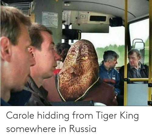 Carole: Carole hidding from Tiger King somewhere in Russia