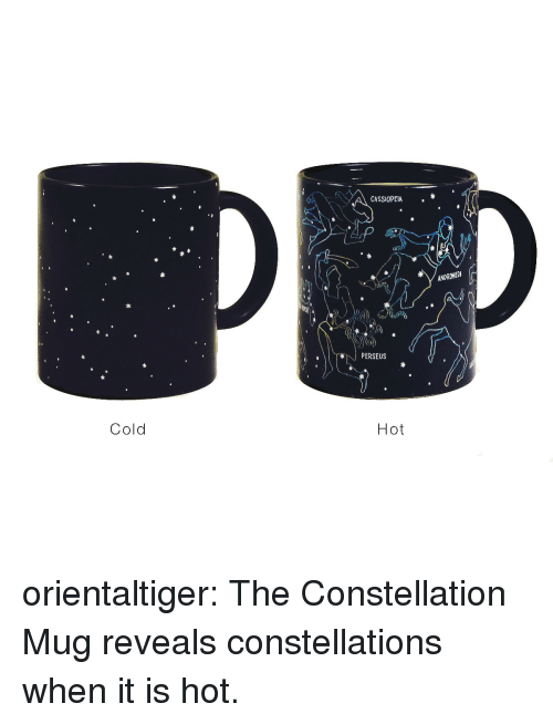 perseus: CASSIOPEIA.  ANDRONEDI  PERSEUS  Cold  Hot orientaltiger:  The Constellation Mug reveals constellations when it is hot.
