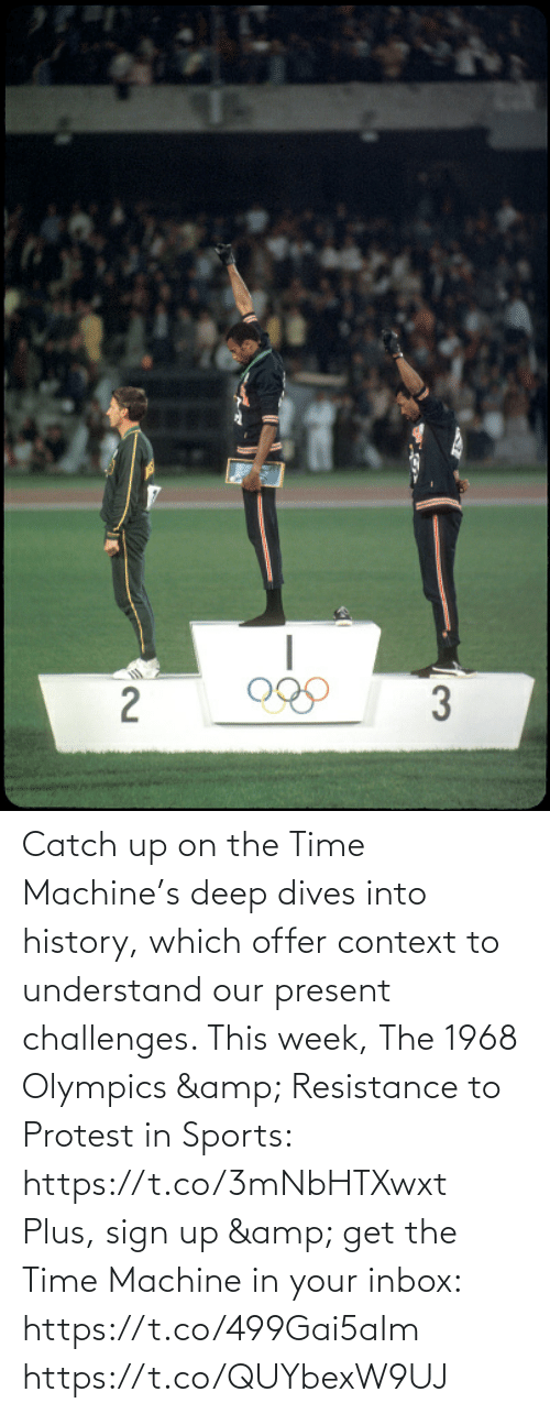 Protest: Catch up on the Time Machine's deep dives into history, which offer context to understand our present challenges. This week, The 1968 Olympics & Resistance to Protest in Sports: https://t.co/3mNbHTXwxt   Plus, sign up & get the Time Machine in your inbox: https://t.co/499Gai5aIm https://t.co/QUYbexW9UJ