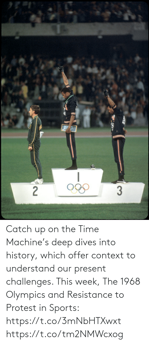 Protest: Catch up on the Time Machine's deep dives into history, which offer context to understand our present challenges. This week, The 1968 Olympics and Resistance to Protest in Sports: https://t.co/3mNbHTXwxt https://t.co/tm2NMWcxog