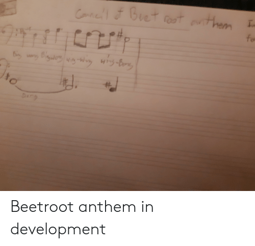 Dig, Them, and Development: Catiel &Buet oot them  for  I.  a Dig iW  Surc Beetroot anthem in development