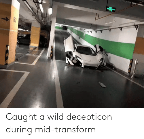 During: Caught a wild decepticon during mid-transform