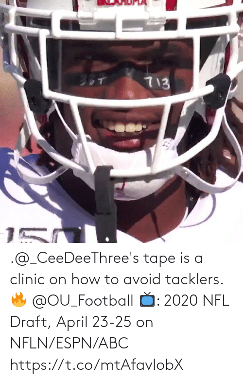 NFL draft: .@_CeeDeeThree's tape is a clinic on how to avoid tacklers. 🔥 @OU_Football  📺: 2020 NFL Draft, April 23-25 on NFLN/ESPN/ABC https://t.co/mtAfavlobX