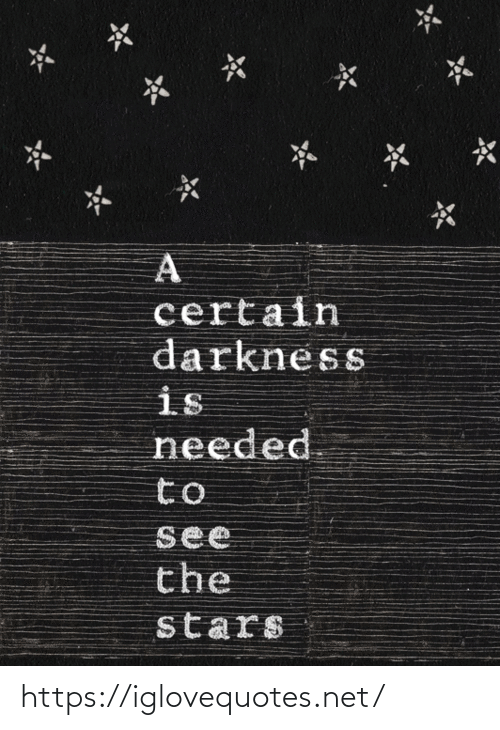 needed: certain  darkness  is  needed  to  see  the  stars https://iglovequotes.net/