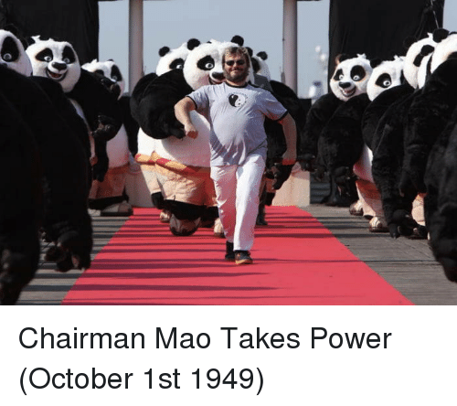 October 1St: Chairman Mao Takes Power (October 1st 1949)