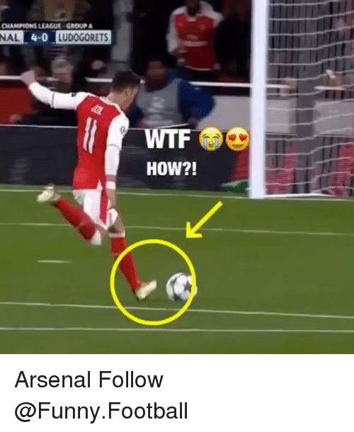funny football: CHAMPIONS LEAGUE GROUP A  NAL  4-0  LUDOGORETS  HOW?! Arsenal Follow @Funny.Football