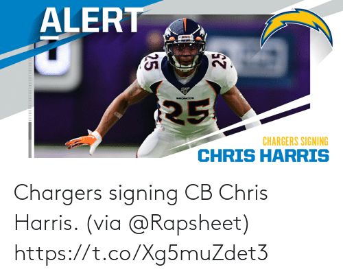 harris: Chargers signing CB Chris Harris. (via @Rapsheet) https://t.co/Xg5muZdet3