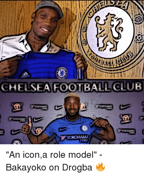 "Chelsea, Club, and Football: CHELSEA FOOTBALL CLUB  TYRES ""An icon,a role model"" - Bakayoko on Drogba 🔥"