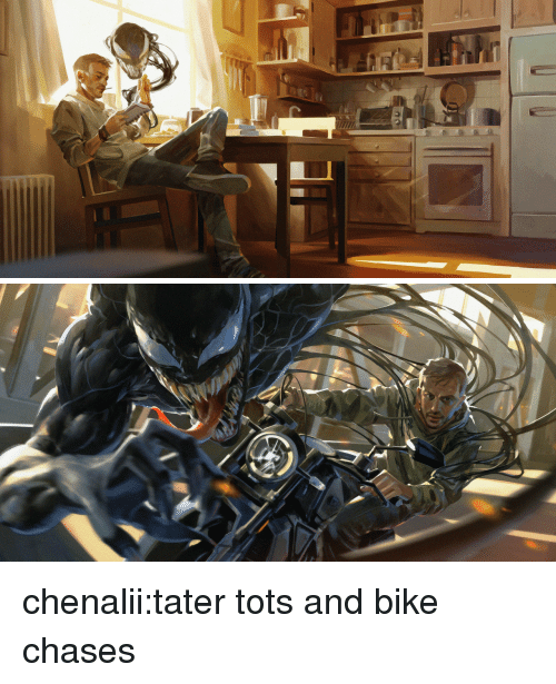 Tots: chenalii:tater tots and bike chases