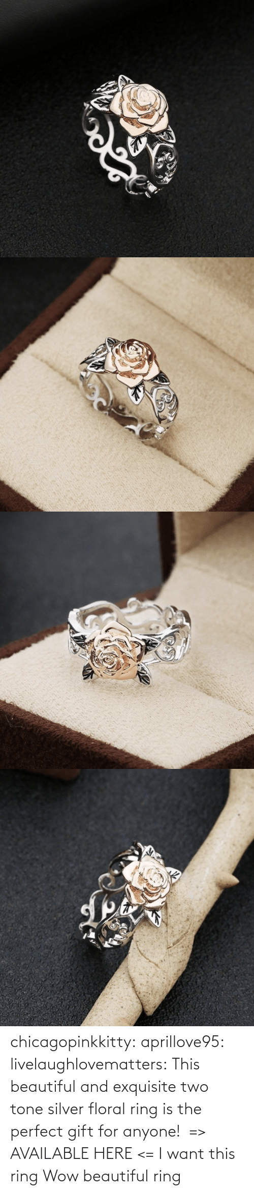 perfect: chicagopinkkitty: aprillove95:  livelaughlovematters:  This beautiful and exquisite two tone silver floral ring is the perfect gift for anyone!  => AVAILABLE HERE <=    I want this ring     Wow beautiful ring