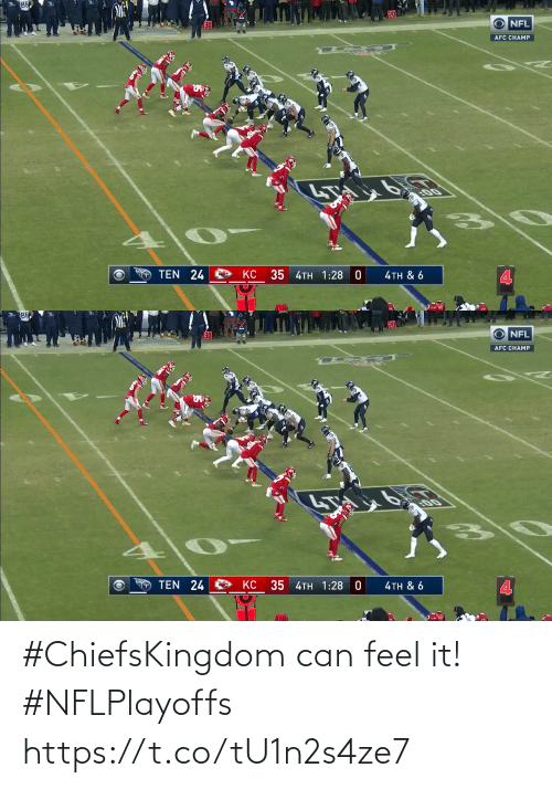 can: #ChiefsKingdom can feel it! #NFLPlayoffs https://t.co/tU1n2s4ze7