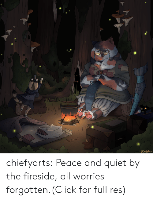 Click, Tumblr, and Blog: @ChiefyArts chiefyarts:  Peace and quiet by the fireside, all worries forgotten.(Click for full res)