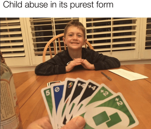 5 0: Child abuse in its purest form  +2  +4 +4  5 0  +2