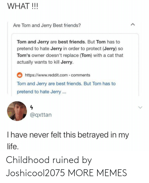 A: Childhood ruined by Joshicool2075 MORE MEMES