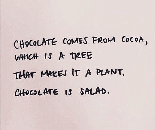 Chocolate, Tree, and Cocoa: CHOCOLATE COMES FRoM CocoA,  WHCHt IS A TREE  THAT MMEEs iT A PLANT  CHHOCOLATE IS SALAD