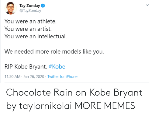Chocolate: Chocolate Rain on Kobe Bryant by taylornikolai MORE MEMES