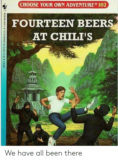 chilis: CHOOSE YOUR OWN ADVENTURE 102  FOURTEEN BEER  AT CHILI'S We have all been there