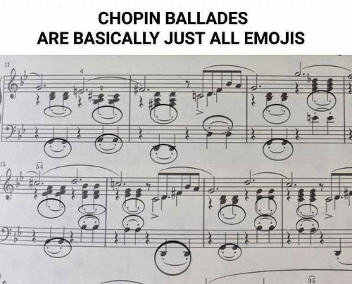 Emojis, Chopin, and All: CHOPIN BALLADES  ARE BASICALLY JUST ALL EMOJIS  15  54  35