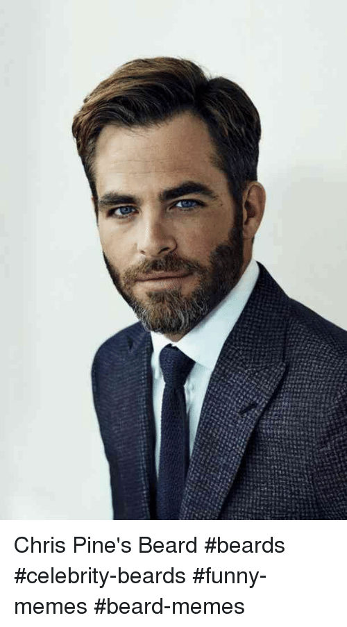 Beard, Funny, and Memes: Chris Pine's Beard #beards #celebrity-beards #funny-memes #beard-memes