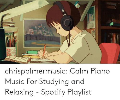 amp: chrispalmermusic:  Calm Piano Music For Studying and Relaxing - Spotify Playlist
