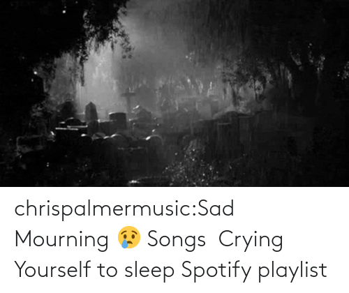 Songs: chrispalmermusic:Sad Mourning 😢 Songs  Crying Yourself to sleep Spotify playlist