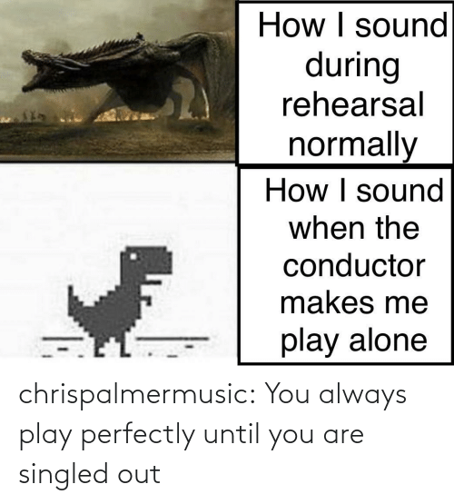play: chrispalmermusic:  You always play perfectly until you are singled out