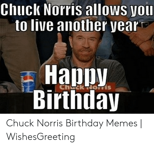 Tremendous Chuck Norris Allows You To Live Another Year Birthday Chuck Norris Personalised Birthday Cards Sponlily Jamesorg