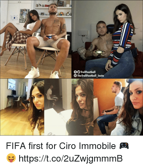 Fifa, Football, and Memes: CİRO  fTrollFootball  The TrolI Football Insta FIFA first for Ciro Immobile 🎮😝 https://t.co/2uZwjgmmmB