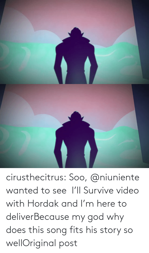 deliver: cirusthecitrus:  Soo, @niuniente wanted to see   I'll Survive video with Hordak and I'm here to deliverBecause my god why does this song fits his story so wellOriginal post
