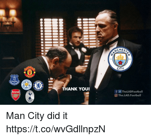 Football, Memes, and Thank You: CITY  THANK YOU!  f TheLADFootball  @ The.LAD.Football Man City did it https://t.co/wvGdllnpzN