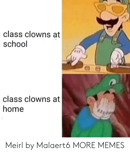Dank, Memes, and School: class clowns at  school  class clowns at  home Meirl by Malaert6 MORE MEMES