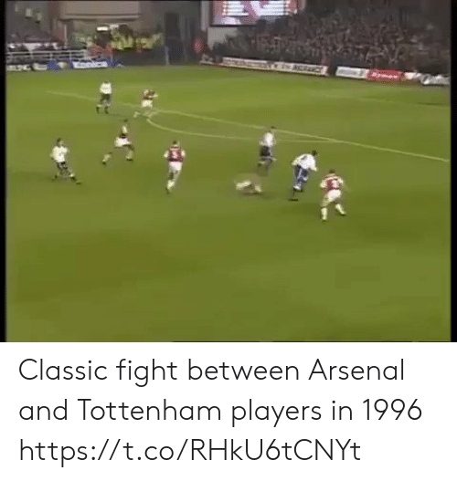 Arsenal, Memes, and Fight: Classic fight between Arsenal and Tottenham players in 1996 https://t.co/RHkU6tCNYt