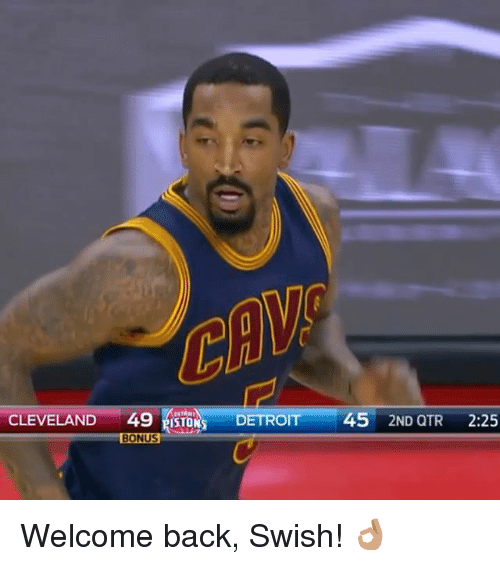 Detroit, Sports, and Swish: CLEVELAND  49 ISTO  DETROIT  45  2ND QTR  2:25  BONUS Welcome back, Swish! 👌🏽