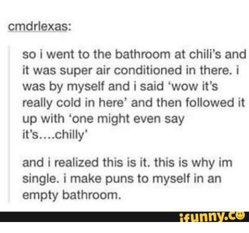 Cmdrlexas So I Went To The Bathroom At Chili's And It Was Super Air Best Bathroom Puns