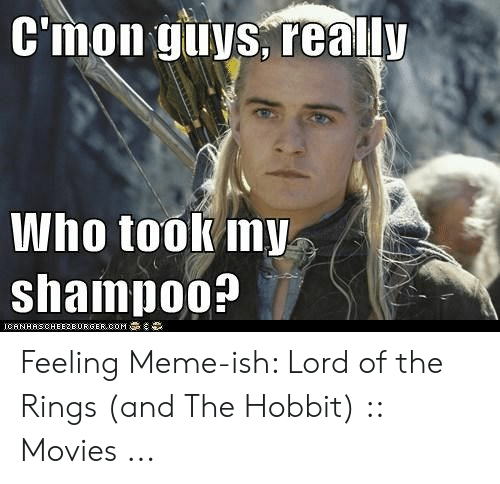 funny lotr: C'mon yuys, really  Who tookmy  shampo0?  ICHNHSCHEE2E URGER COM Feeling Meme-ish: Lord of the Rings (and The Hobbit) :: Movies ...