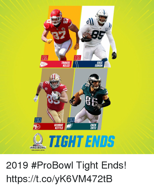 Memes, Orlando, and Pro: CO  TRAVIS  KELCE  ERIC  EBRON  GEORGE  KITTLE  ZACH  ERTZ  TIGHT ENDS  PRO BOWL  ORLANDO 2019 2019 #ProBowl Tight Ends! https://t.co/yK6VM472tB
