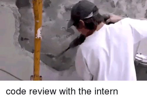 Code, Intern, and Review: code review with the intern