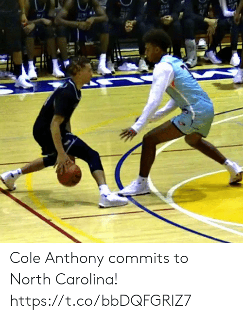 Memes, North Carolina, and 🤖: Cole Anthony commits to North Carolina!    https://t.co/bbDQFGRlZ7