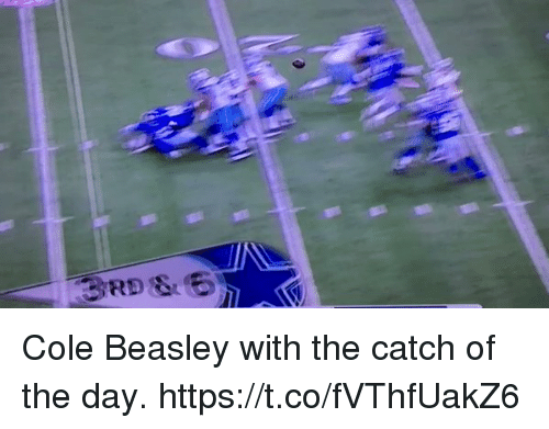 Beasley: Cole Beasley with the catch of the day. https://t.co/fVThfUakZ6