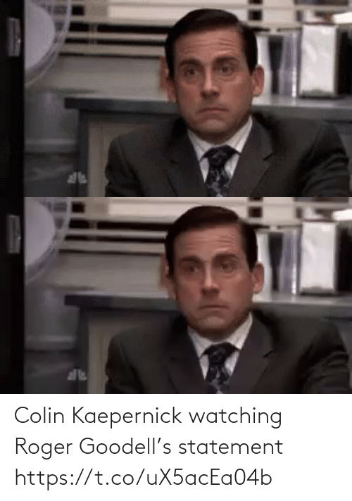 Football: Colin Kaepernick watching Roger Goodell's statement https://t.co/uX5acEa04b