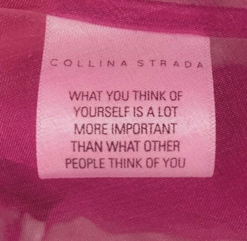 Think, You, and What: COLLIN ASTRA D  WHAT YOU THINK OF  YOURSELF IS A LOT  MORE IMPORTANT  THAN WHAT OTHER  PEOPLE THINK OF YOU