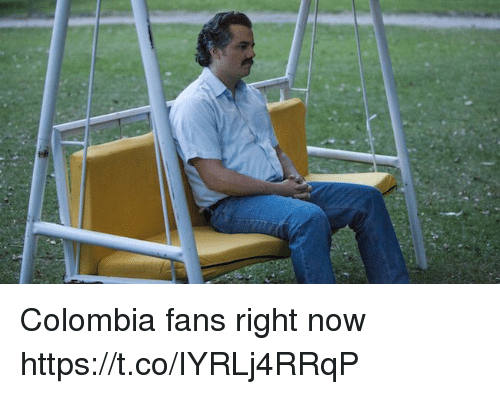 Soccer, Colombia, and Now: Colombia fans right now https://t.co/IYRLj4RRqP