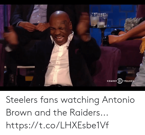 Sizzle: COMEDY  CENTRAL Steelers fans watching Antonio Brown and the Raiders... https://t.co/LHXEsbe1Vf
