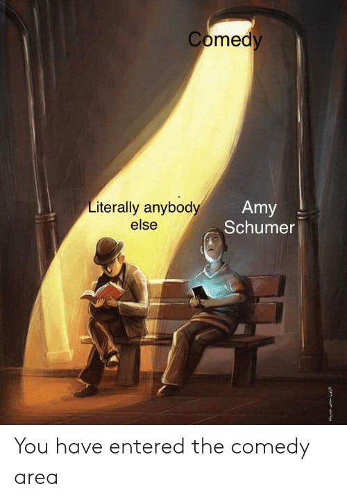 Amy Schumer, Comedy, and Amy: Comedy  Literally anybody  else  Amy  Schumer You have entered the comedy area